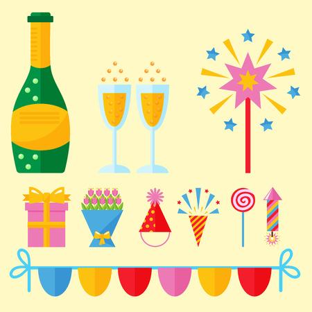 Party icons celebration