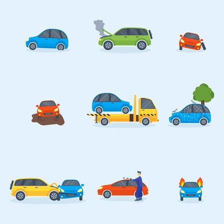 交通事故の衝突