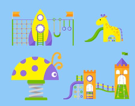 Recreation swing equipment for kindergarten Illustration