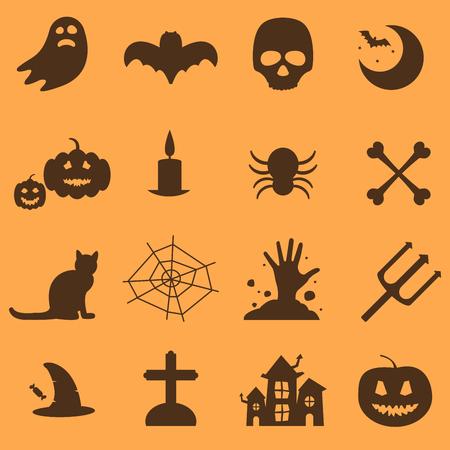 Halloween party icons set Ilustração