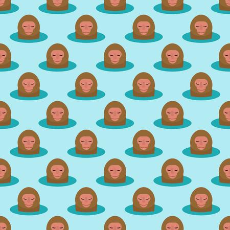Achtergrond van het aap de hoofdkarakter naadloze patroon.