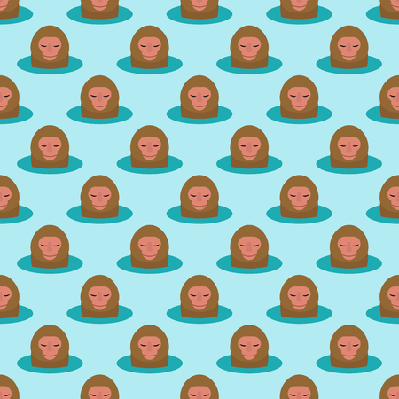Monkey head character seamless pattern background. Ilustração