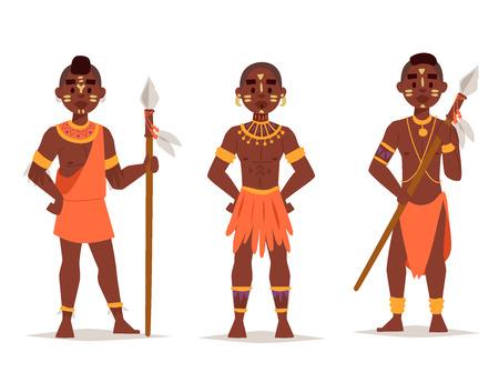 전통적인 의류에 마사 이족 부부 아프리카 사람들입니다.