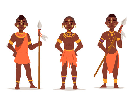 Maasai paar Afrikaanse mensen in traditionele kleding.