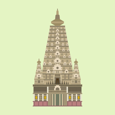 Cathedral and church traditional temple building landmark. Illustration