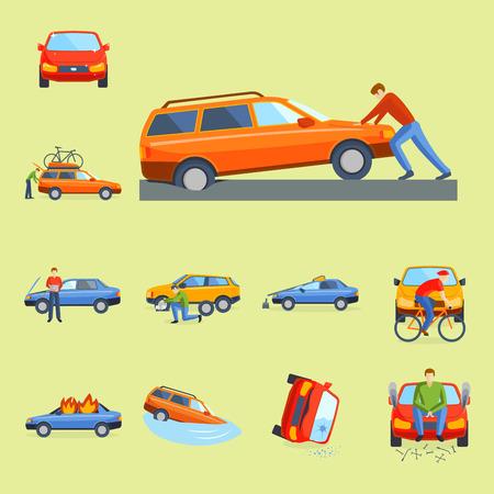 Car crash collision.