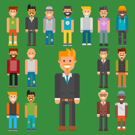 Group of men portrait.