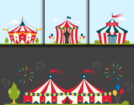Circus tent marquee.