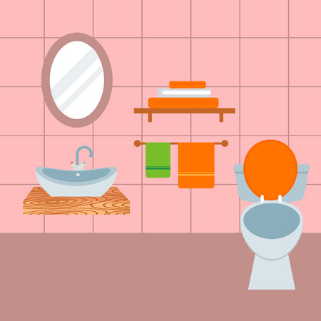 Bathroom icons process water savings symbols hygiene washing cleaning beauty vector illustration. Illustration