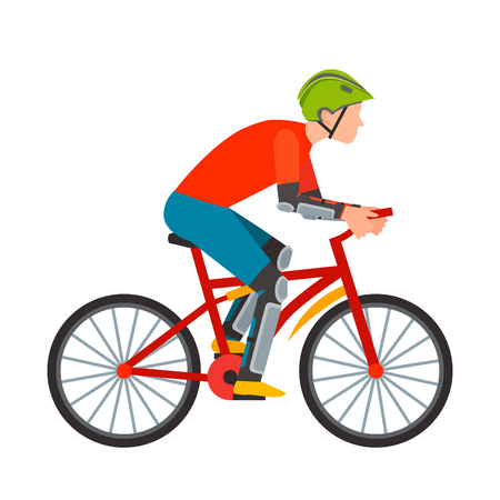 Racing cyclist in action.