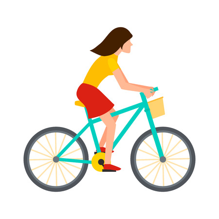 A cyclist in action.