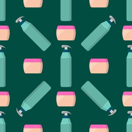 Bottles of cosmetic vector illustration. Illustration