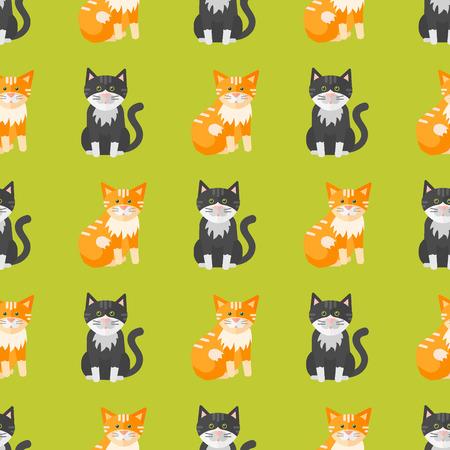 Cats pattern vector illustration.