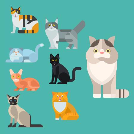 猫ベクトル イラスト  イラスト・ベクター素材