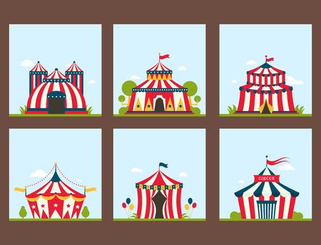Circus show entertainment tent. Illustration