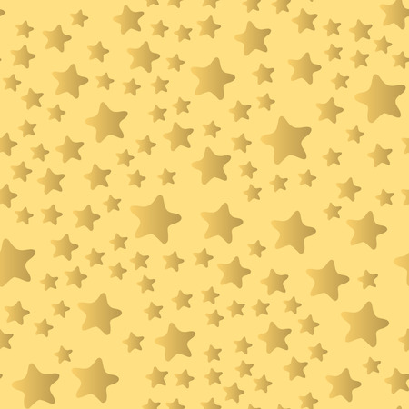 Shiny stars style seamless pattern pentagonal gold award abstract design doodle night artistic background vector illustration. Banco de Imagens - 87392457