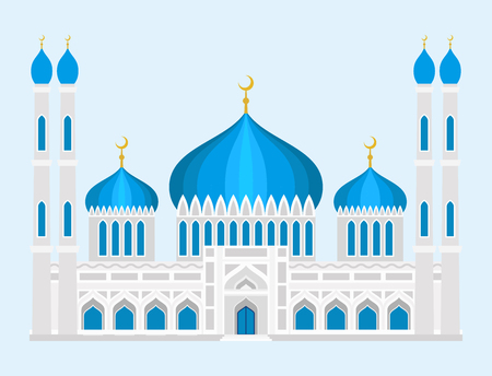 カテドラルモスク教会テンプルトラディショナルビルディングランドマーク観光ベクトルイラスト