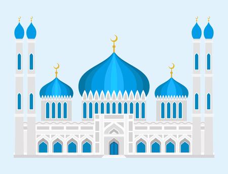Kathedraal moskee kerk tempel traditionele gebouw oriëntatiepunt toerisme vector illustratie Stock Illustratie