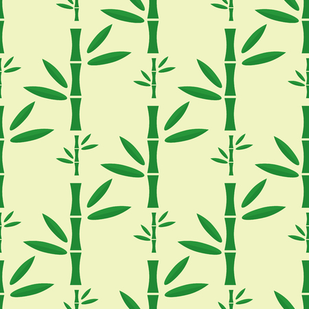 Bamboo stem seamless pattern vector illustration.