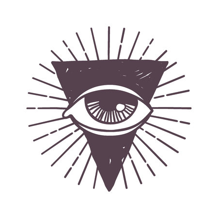 Esoteric eye rune symbol illustration.