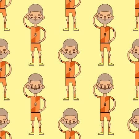 Campeonato do Mundo da Eurocopa, futebol, ilustração, padrão, ilustração, líder, jogador, capitão, líder, uniforme, esporte, homem, personagens. Vencedor ativo que joga grupo masculino. Foto de archivo - 87275103