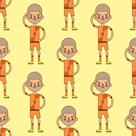 National Euro Cup soccer football team pattern illustration world game player captain leader in uniform sport men characters. Active winner playing male group.
