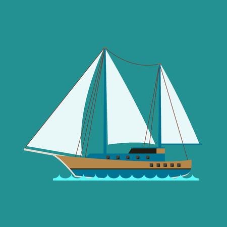 Schip kruiser boot zee symbool vaartuig reizen industrie vector zeilboten cruise set van mariene pictogram