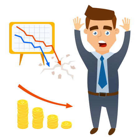 A crisis symbols investment icon vector illustration. Иллюстрация
