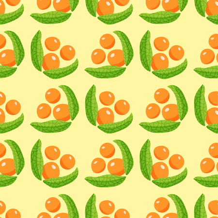 벡터 열매 원활한 패턴입니다. 일러스트