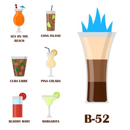 アルコール飲料やメガネ ベクトル イラストの異なるタイプです。  イラスト・ベクター素材