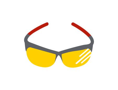 Fashion sunglasses accessory sun spectacles plastic frame modern eyeglasses vector illustration.