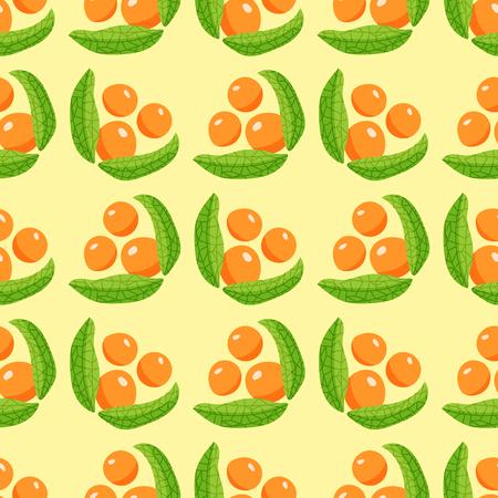 果実のシームレスなパターンをベクトル ベリー枝背景イラスト。包装、ティー ショップ、ドリンク メニューのホメオパシー医療製品の設計します  イラスト・ベクター素材