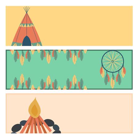 인디언 아이콘 사원 장식 벡터 요소, 복고풍, 빈티지 스타일, 민족적인 사람들과 도구 일러스트 레이 션.