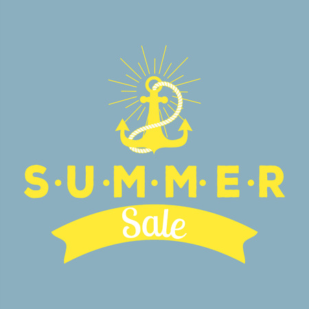 A hand drawn Summer sale badges for shopping advertise vector illustration. Illusztráció