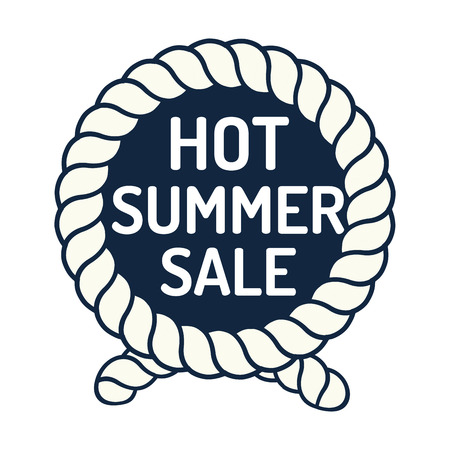 A hand drawn Hot Summer sale badges for shopping advertise vector illustration.