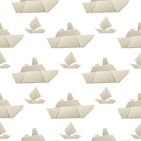 折り紙ロジスティック紙の船