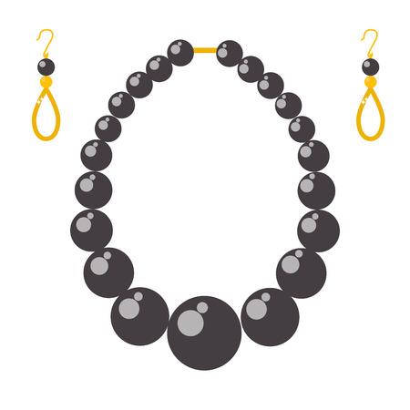 Set van vector sieraden items goud en edelstenen kostbare accessoires modeartikelen vector illustratie. Schoonheid hanger symbool