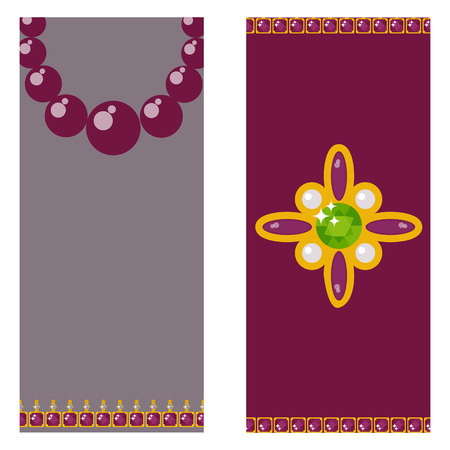 Set of vector jewelry items gold and gemstones accessories for fashion vector illustration.