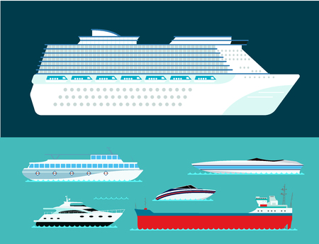 Set of marine icon commercial design element illustration.