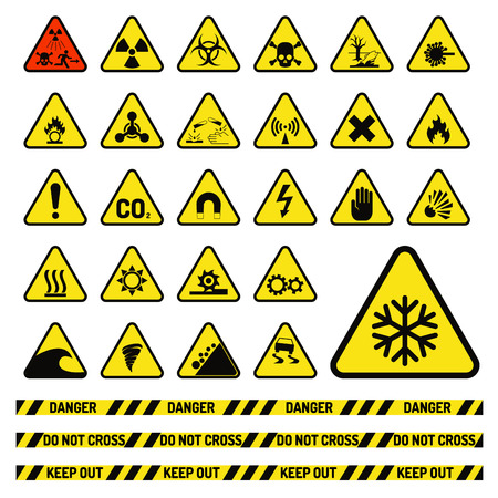 Prohibition signs industry production vector illustration.