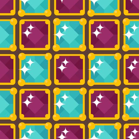Elegante edelstenen, kostbare accessoires, illustratie van het mode de herhalende patroon Stock Illustratie