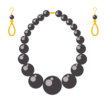 diamond earrings: Elegant  gemstones, precious accessories fashion illustration Illustration