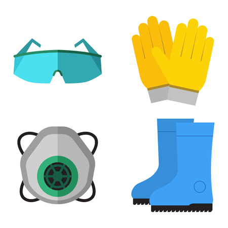 gasmask: Safety industrial gear tools Illustration