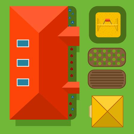 Plan of private house vector illustration. Illusztráció