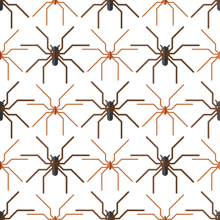 Spider web silhouette arachnid fear seamless pattern scary animal design nature insect danger horror halloween vector icon.