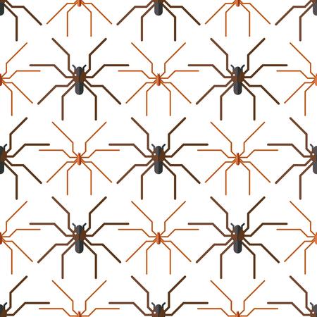 Spinneweb silhouet spinachtige vrees naadloze patroon eng dierlijk ontwerp natuur insect gevaar horror halloween vector pictogram.