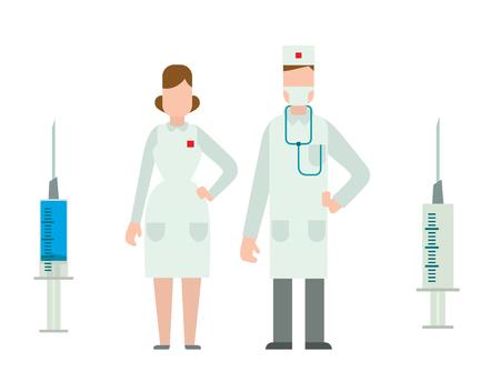 Medical symbols emergency sign