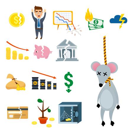 Crisis symbols concept.