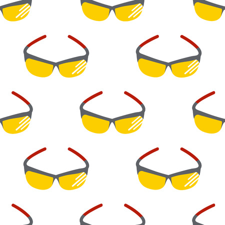 Fashion sunglasses design seamless pattern Illustration