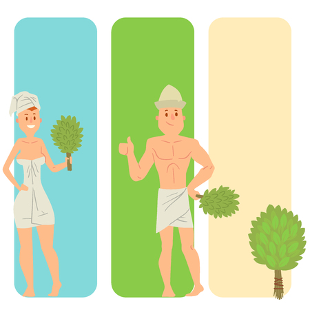 Bath people body washing face cards bath taking shower steam take luxury relaxation characters vector illustration